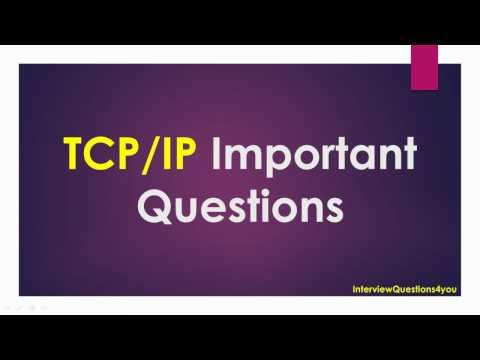 TCP/IP Important Questions ( Frequently...