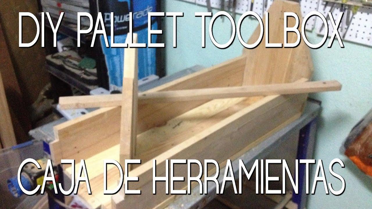 Diy pallet toolbox caja de herramientas de madera pt 1 - Cajas de erramientas ...