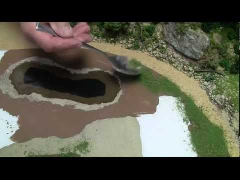 Basic Model Train Scenery Tutorial #4 – Creating a body of water