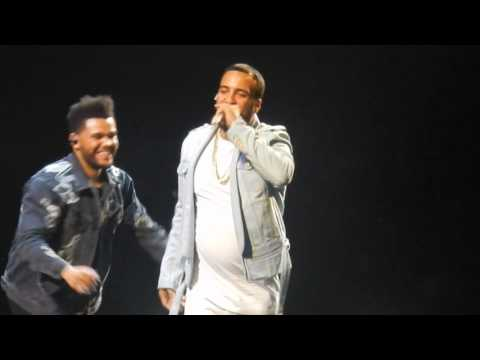 The Weeknd-Unforgettable ft.French Montana & Swae Lee HD (live at Barclays Center-Brooklyn 6/7/2017)