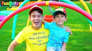 Super Fun Obstacle Course Race for Kids with Jason