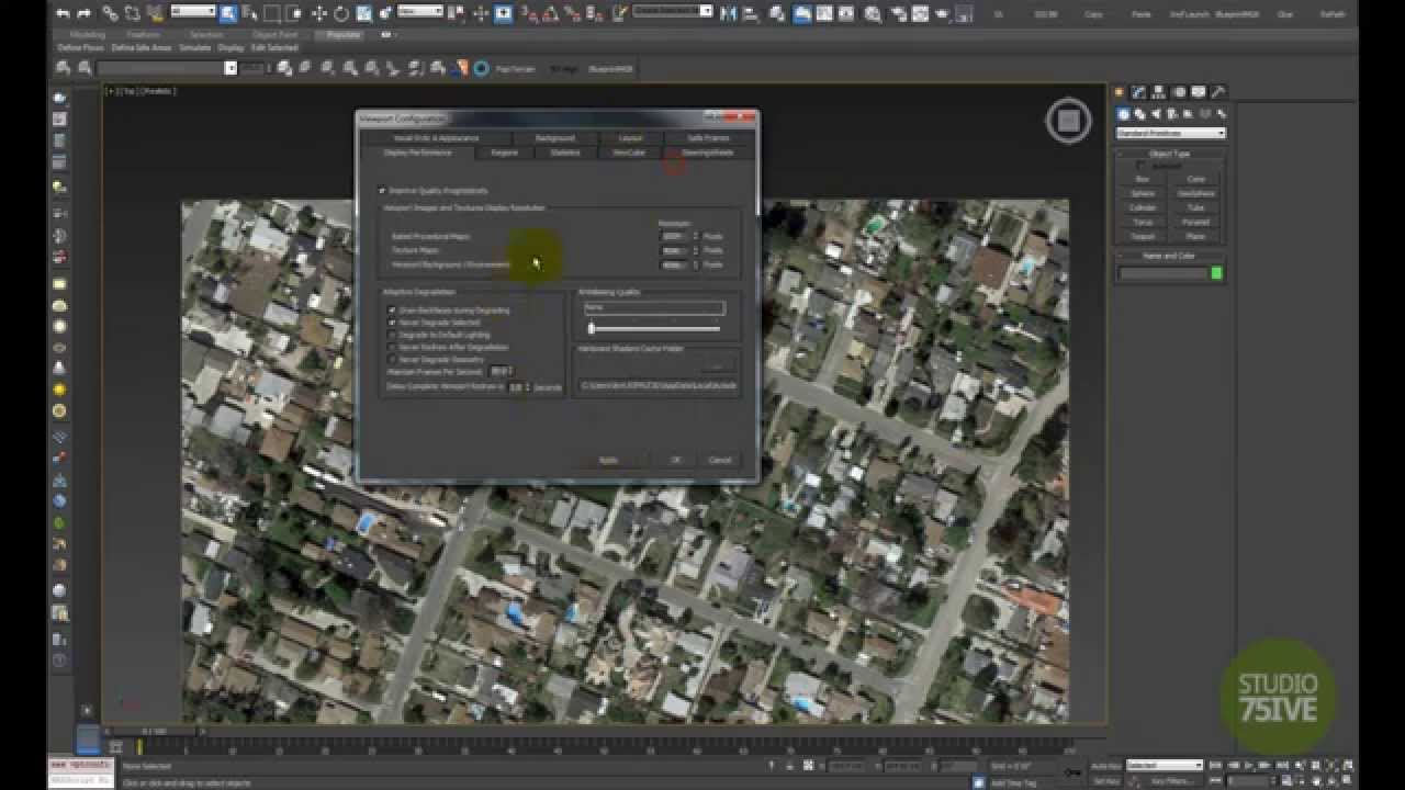 Background image 3ds max viewport - How To Display High Resolution Maps In Viewport 3ds Max 2015 Youtube