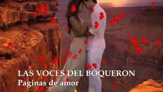 LAS VOCES DEL BOQUERON - Paginas de amor