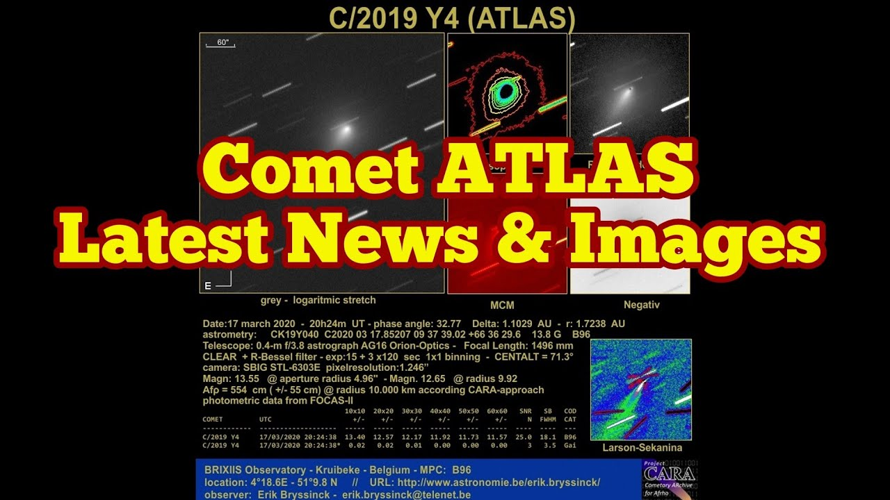Comet ATLAS: Latest News, Images, Astrophotos/ C/2019 Y4/ Doomsday Comet/ Astronomy/ Dinosaurs