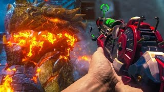 """""""DER EISENDRACHE"""" STARTING THE EASTER EGG ON ROUND 50 W/ BO2 WEAPONS (Black Ops 3 Zombies)"""