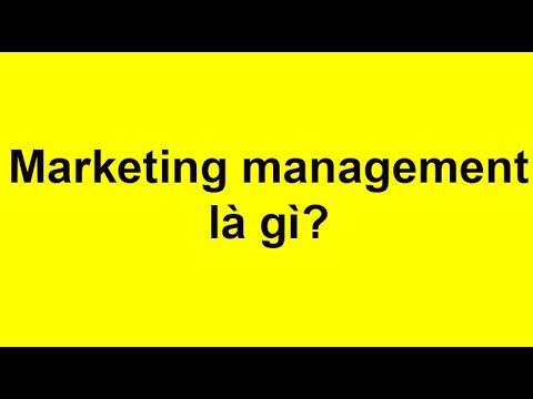 Quản Trị Marketing (Marketing management) là gì?