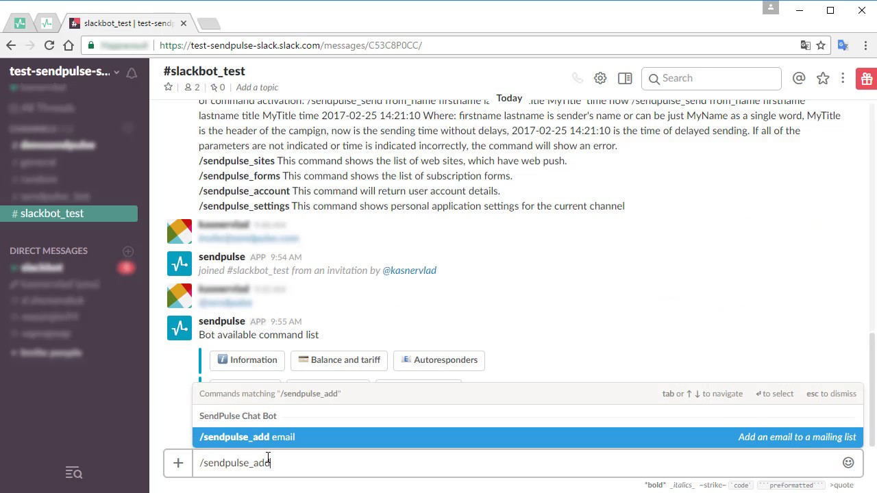 SendPulse Slack Bot for Email Marketing Right From Slack