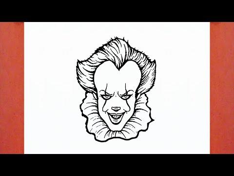 Comment Dessiner Le Clown Pennywise De ça It Youtube