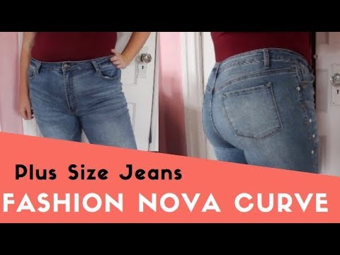 Plus Size TRY ON Haul Size 14 Fashion Nova Curve Jeans Try On