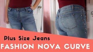Size 14 Fashion Nova Curve Denim Try On | Plus Size TRY ON Haul| Fall 2018