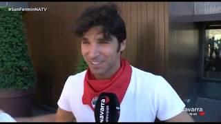 Cayetano Rivera ya disfruta en Pamplona de los Sanfermines