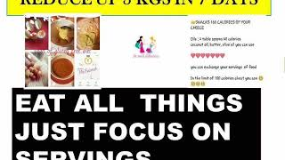 portion control / servings sized of daily food for fast weight reduce thumbnail
