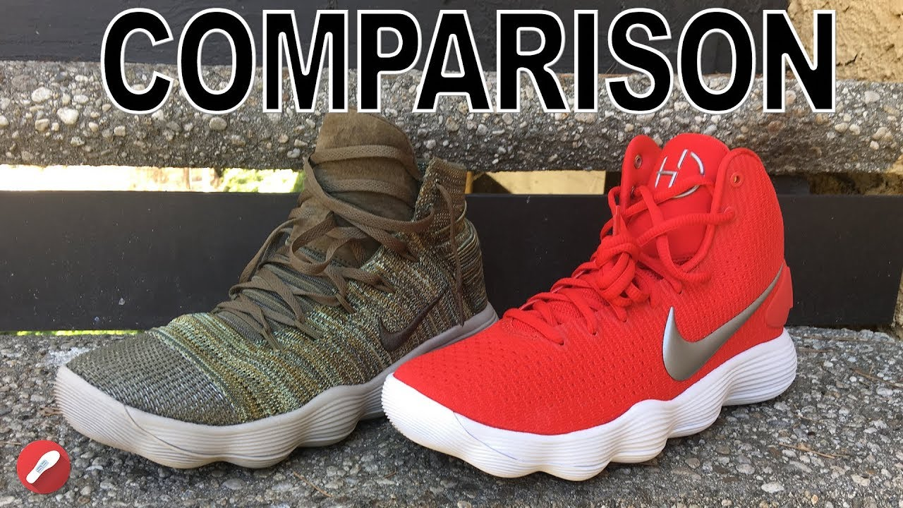 Nike Hyperdunk 2017 Flyknit React & Regular Hyperdunk 2017 Comparison!