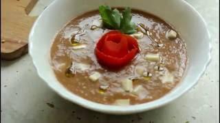 Гаспачо (простой испанский холодный суп)