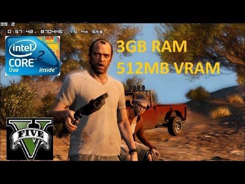 GTA 5 на слабом ПК Core 2 Duo