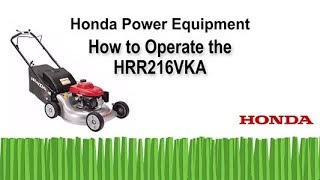 HRR216VKA Lawn Mower Operation