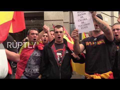 Spain: Far-right protest 'illegal' Catalan vote