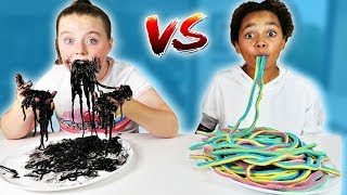 REAL FOOD VS GUMMY FOOD CHALLENGE!!