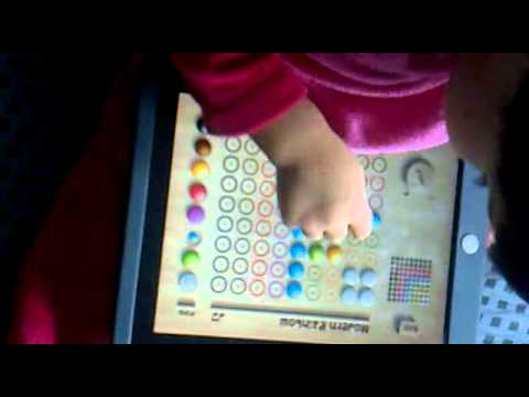 Pin Puzzle iPad game app for children toddler baby Color
