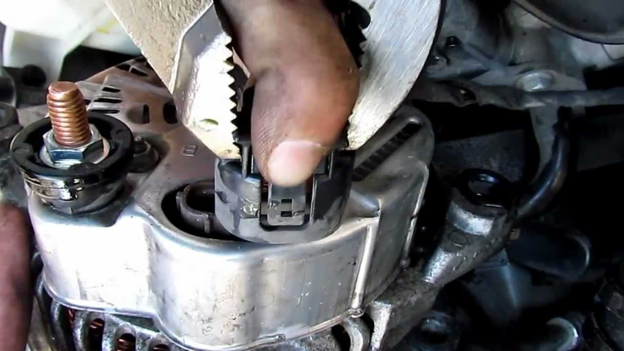 2008 Hyundai Sonata 2 4 Liter How To Free Quot Plug Quot On The Alternator For Removal Youtube