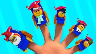 finger family bob the train | baby songs | fun learning for kids