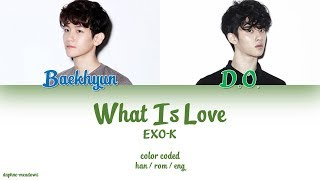 EXO-K (엑소케이) – What Is Love (Color Coded Han/Rom/Eng Lyrics)