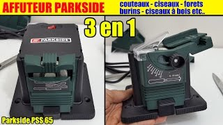 affuteur lidl parkside forets couteaux ciseaux burins etc. sharpening station schärfstation