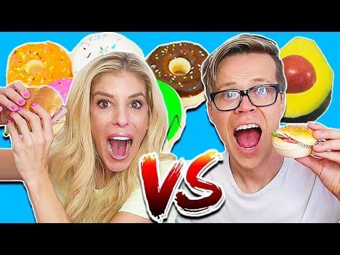 SQUISHY FOOD VS. REAL FOOD CHALLENGE! (DAY 299) TASTE TEST