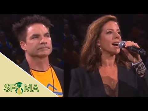 Lisa Foxx - Train's Pat Monahan and Sarah McLachlan Perform NBA Finals Anthem At Game 6