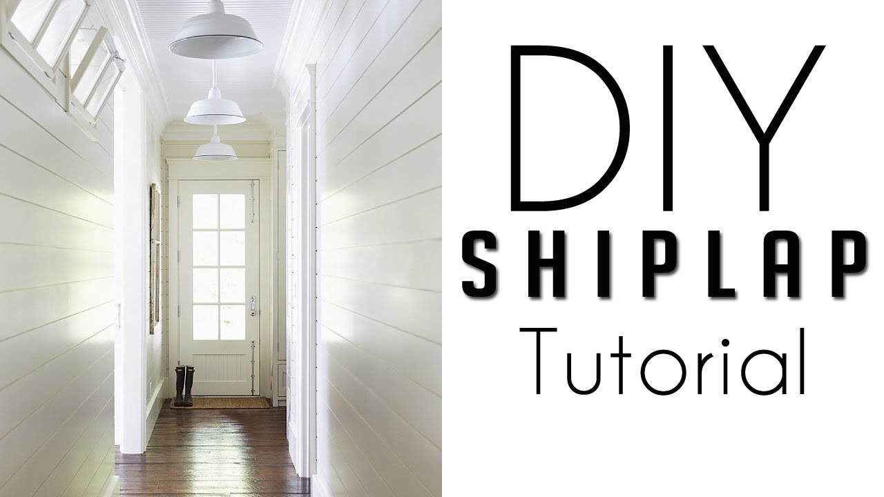 How To Make Shiplap Walls In Your Home, Installation and DIY Farmhouse  Tutorial