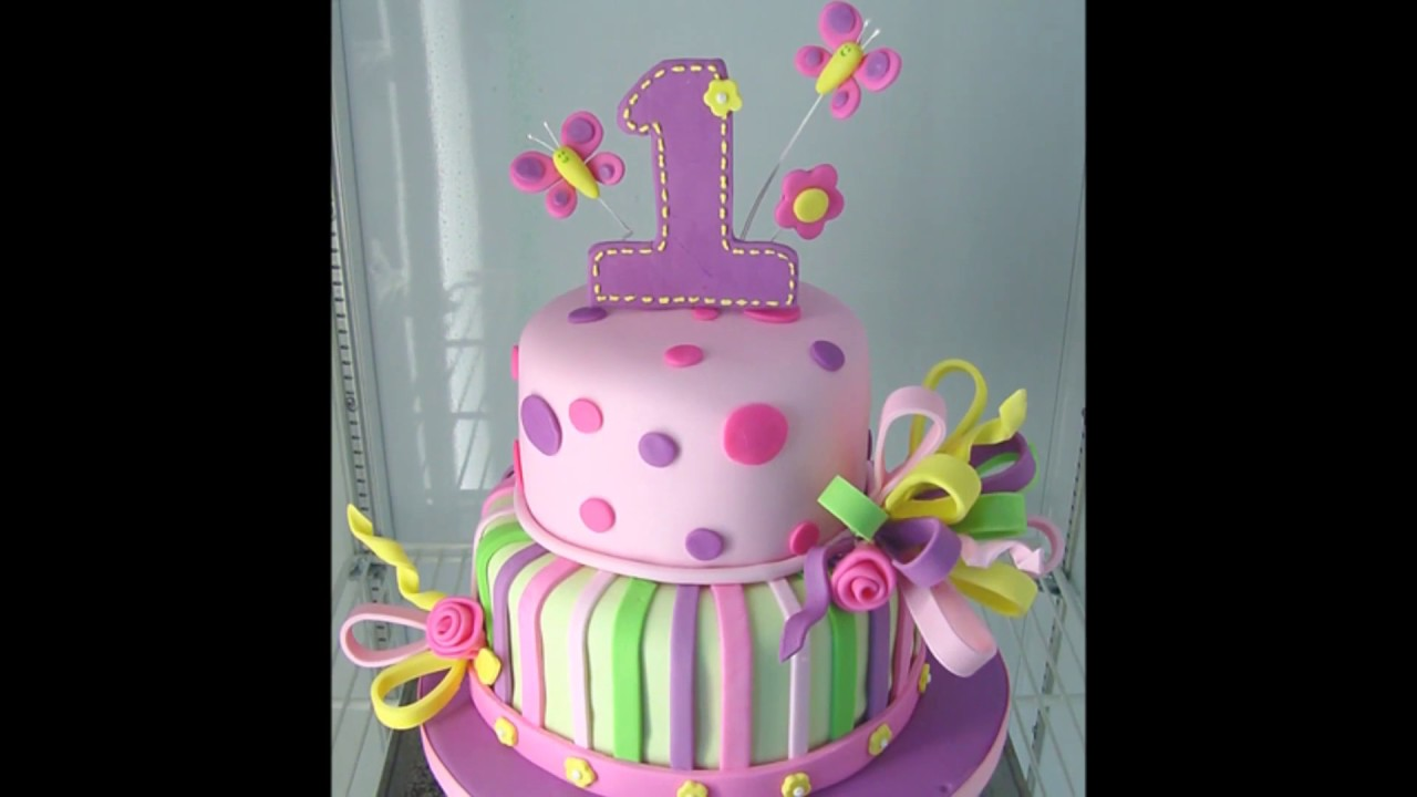Baby Girl 1st Birthday Cake Photos Youtube