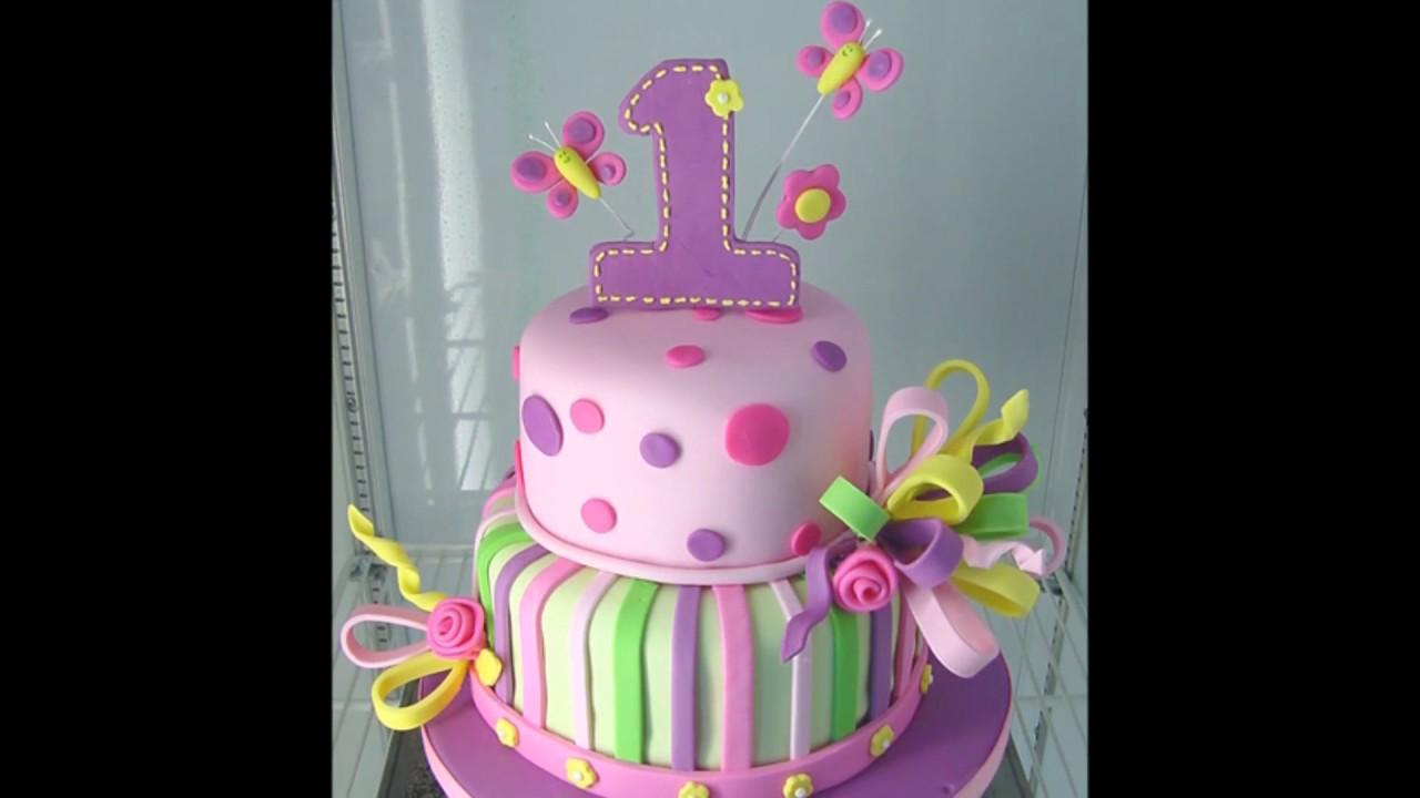 Baby Girl 1st Birthday Cake Photos Youtube