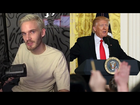 Donald Trump's Press Conference and PewDiePie's New Video.  Common Problem, Liberal Fake Media