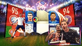 OMG RONALDO, MESSI & ICONS IM PACK !! 🔥🔥🔥 FIFA 18 WORLD CUP PACK OPENING