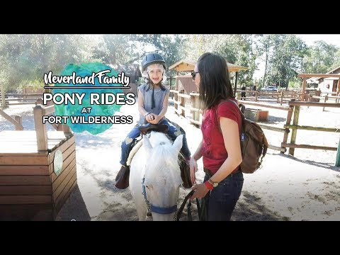 Pony rides at Fort Wilderness Campgrounds: November 17, 2017