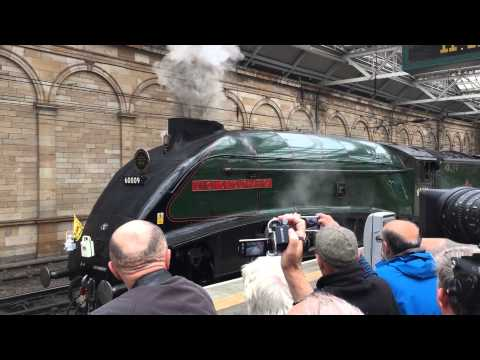 60009 Union of South Africa departs Waverley with the Royal train