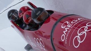 International stars join OMEGA at the Olympia Bob Run in St. Moritz