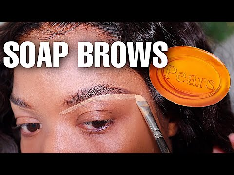 HOW TO: NATURAL FLUFFY EYEBROW TUTORIAL| SOAP BROW