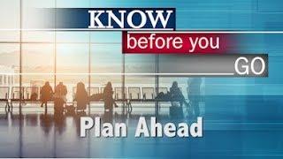 Travel Tips - Plan Ahead