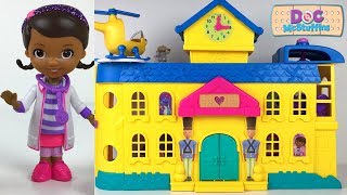 STORY AT DOC MCSTUFFINS'S TOY HOSPITAL WITH LAMBIE STUFFY ZUMA MARSHALL & DISNEY CARS MCQUEEN