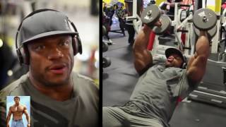 Phil Heath Triceps and Back workout 2016