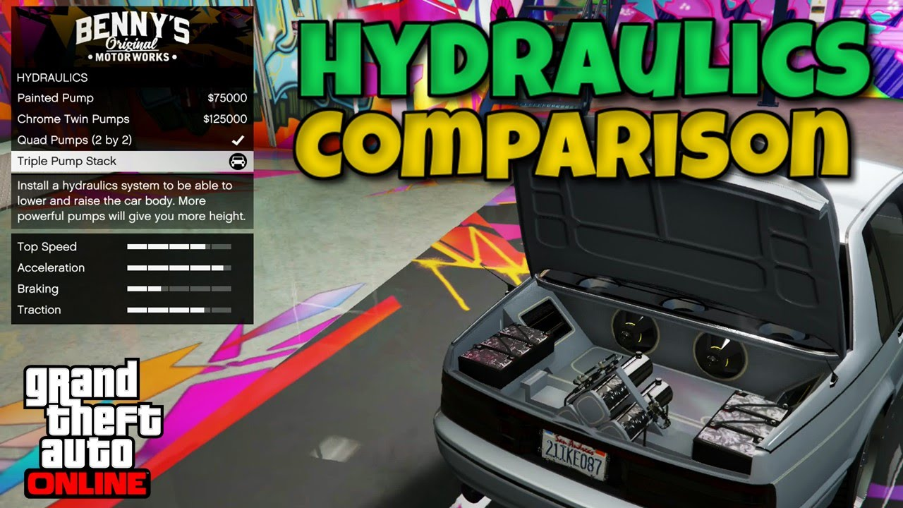 gta v hydraulics controls xbox one
