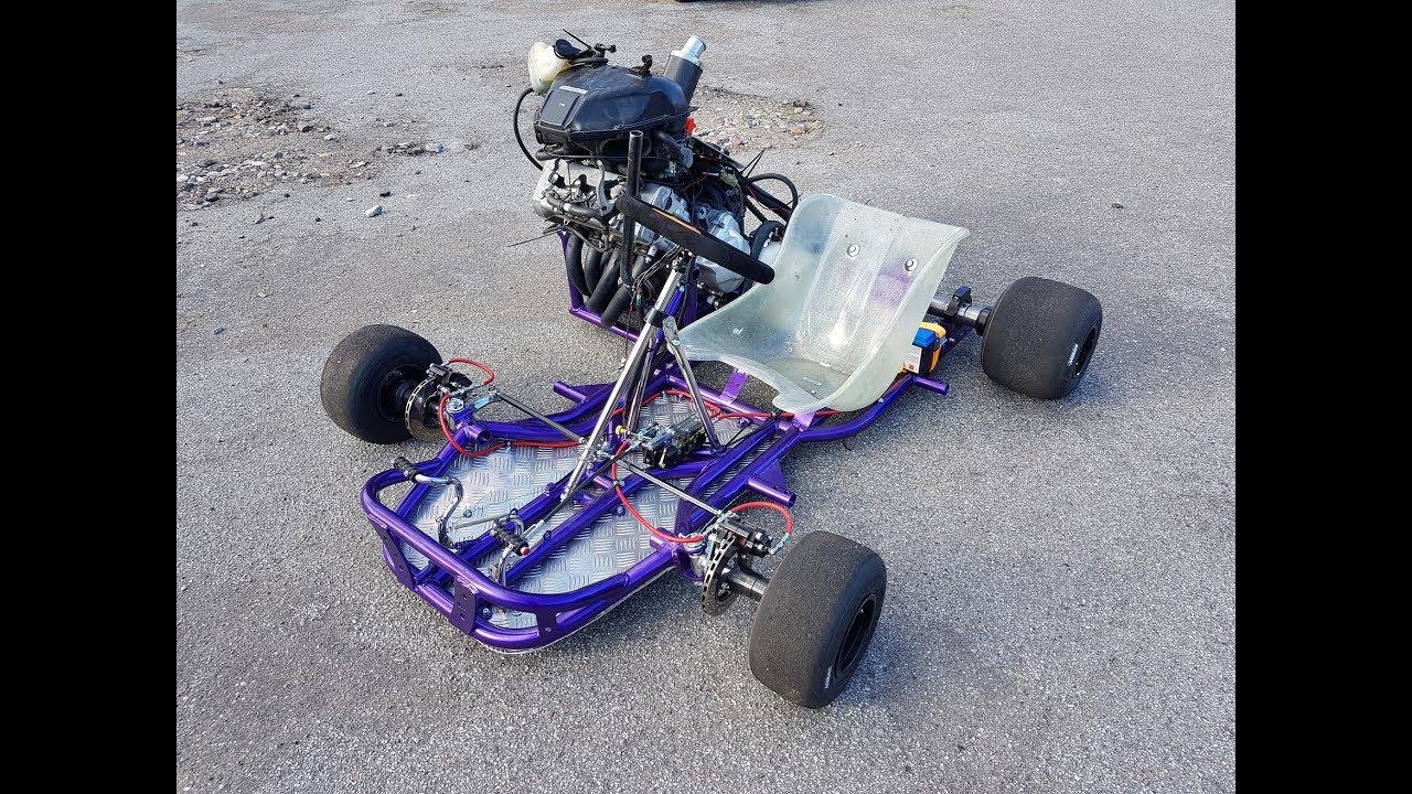 Honda Cbr 600cc Go Kart Walk Around