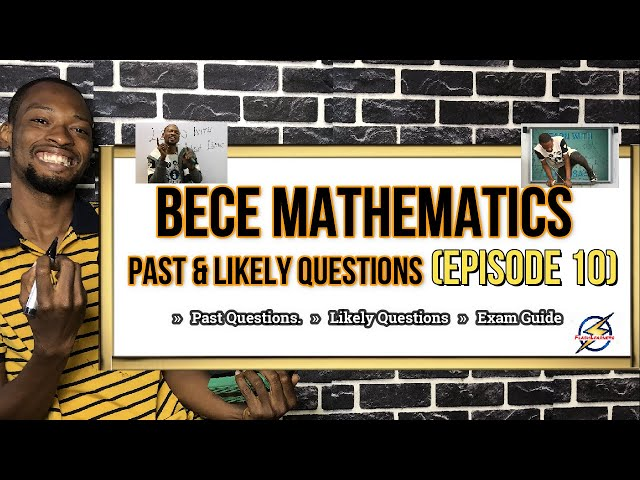 JSS (BECE) Mathematics With Detailed Answers | Episode 10