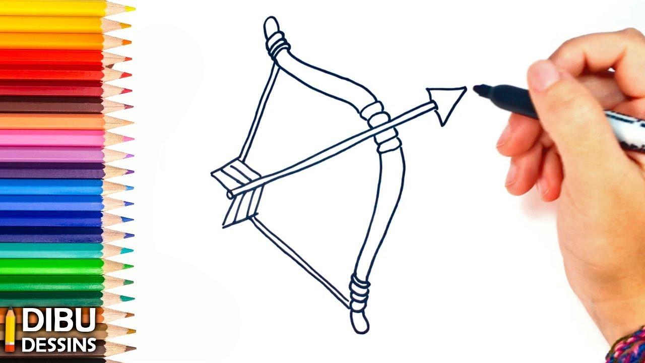 Comment dessiner un Arc et une Flèche étape par étape ...