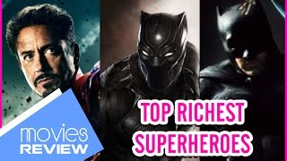 Top 10 Richest Superheroes From Marvel Comics to the world of DC