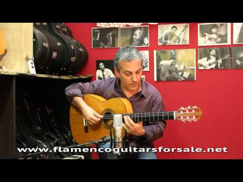 Manuel Ramírez 1916 flamenco guitar for sale played by Pedro Javier González