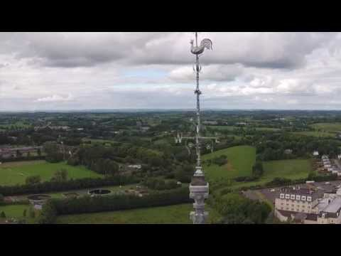 St. Macartan's Cathedral, Monaghan town aerial footage