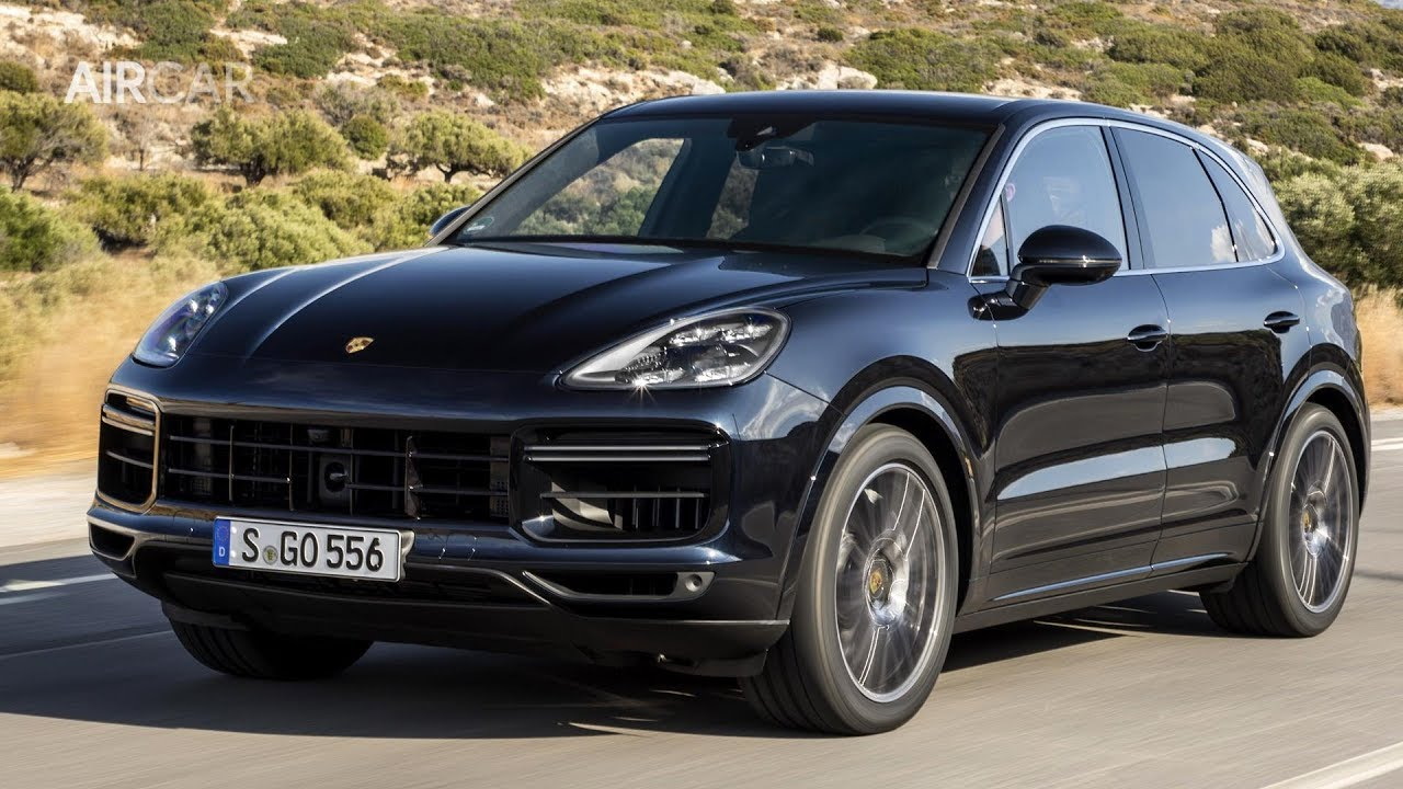 2018 Porsche Cayenne Turbo Moonlight Blue Metallic Drive Exterior Interior