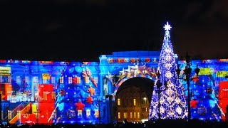 Новогоднее световое шоу. Дворцовая площадь 2015г